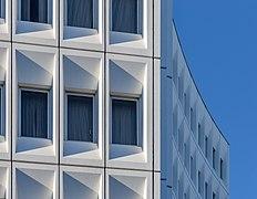Detail of Distinction Hotel facade, Christchurch, New Zealand 07.jpg