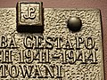 Detail of Plaque on Facade of Former Gestapo Headquarters - Przemysl - Poland (35990996400).jpg