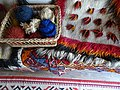 Detail of Woven Rugs with Wool - Ethnographic Museum - Gjirokastra - Albania (42362506392).jpg