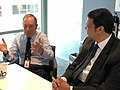 Devendra Fadanvis in New York - with Bloomberg.jpg