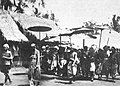 Dewa Agung arriving in Gianyar to negotiate with the Dutch 1906.jpg
