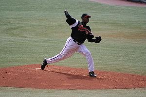 Dewon Brazelton - Brazelton pitching for the Portland Beavers in July 2006