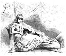 Herzog August als Griechin, Die Gartenlaube 1857 (Quelle: Wikimedia)
