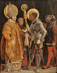 Die hll. Erasmus und Mauritius Matthias Grünewald.jpg