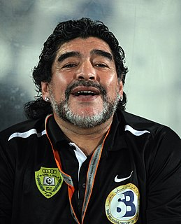 Diego Maradona Argentine football manager and former player