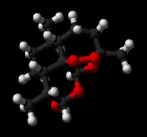 Dihydroartemisinin - Image: Dihydroartemisinin 3D balls