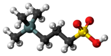 Ball-and-stick model of the DSS molecule