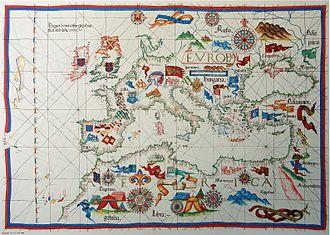 Diogo Homem - Portolan chart of the Mediterranean by Diogo Homem, 1563. Biblioteca Nazionale, Florence