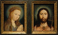 Diptych with Christ as Salvator Mundi and Mary Praying, by Quinten Massijs I, date unknown - Museum M - Leuven, Belgium - DSC05218.JPG
