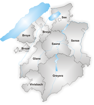 Canton of Fribourg - Districts of canton Fribourg