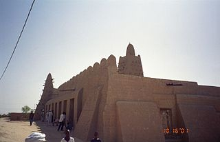Timbuktu Mosque made from mudbricks