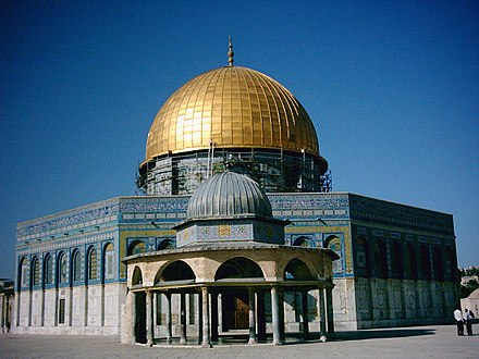 Dome of the Rock built by Abd al-Malik ibn Marwan; completed at the end of the Second Fitna Dome of the Rock1.jpg