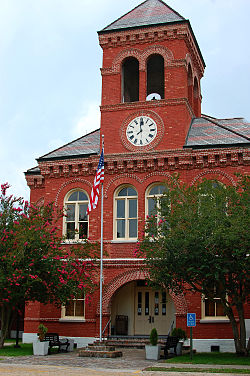 The Ascension Parish Courthouse is located on Railroad Avenue in Donaldsonville