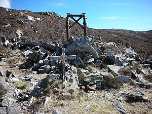 "Urris - Image: Donegal. ""Urris Hills Air Crash"" Elevation 235 metres (770 feet) geograph.org.uk 1046694"
