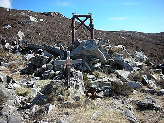 "Urris - Image: Donegal. ""Urris Hills Air Crash"" Elevation 235 metres (770 feet) geograph.org.uk 1046694"