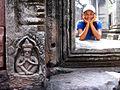 Door post in Prasat Hin Phi Mai - panoramio.jpg