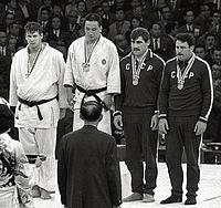 Doug Rogers, Isao Inokuma, Parnaoz Chikviladze, Anzor Kiknadze 1964.jpg