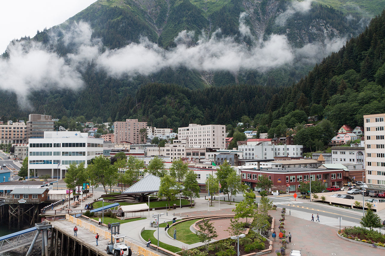 Alan Wu - Flickr: Downtown Juneau with Mount Juneau rising in the background