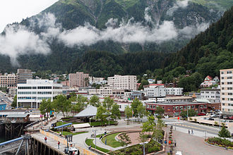 Juneau, Alaska - Downtown Juneau, with Mount Juneau in the background