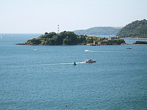 Drake's Island - Drake's Island as seen from Plymouth Hoe.