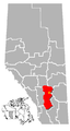 Drumheller, Alberta Location.png
