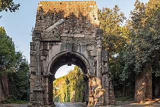 Arch of Drusus ancient arch at the beginning of the Appian Way in Rome