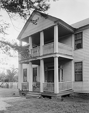 National Register of Historic Places listings in Wilcox County, Alabama - Image: Dry Fork front portico