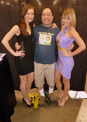 Attack of the Show! - Candace Bailey and Sara Jean Underwood with a fan