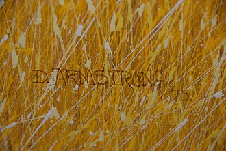Duane Armstrong - Duane Armstrong signature from Untitled, 1975