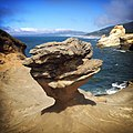 Duckbill (rock formation at Cape Kiwanda State Natural Area), 2014-08-27 iPhone.jpg