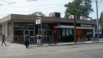 Dundas West station - Image: Dundas West TTC Mc Entrance