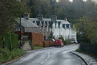 A view south along Bankfoot's Dunkeld Road