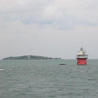 Duxbury Pier Light - The Duxbury Pier Light with Clark's Island in the distance