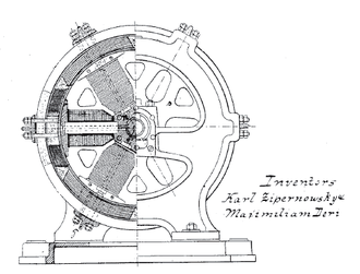 Miksa Déri - Image: Dynamo Electric Machines End View Partly Section USP284110