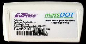 E-ZPass - New G4 style E-ZPass transponder for MassDOT manufactured by Kapsch
