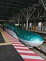 E5 Shinkansen to Tokyo at Shin-Hakodate-Hokuto Station.jpg