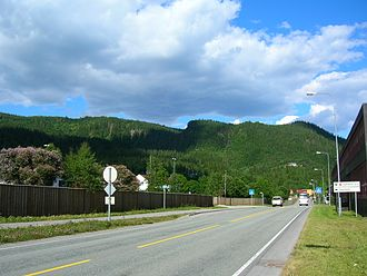 Selfors - View of the E6 highway passing through Selfors