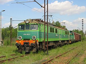 PKP class ET41 - ET41-199 at Trzebinia Siersza station, 12 May 2007