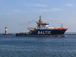 Die Baltic läuft in Warnemünde ein (September 2010)