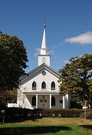 Evangelical Lutheran Church of Saddle River and Ramapough Building - Image: EVANGELICAL LUTHERAN CHURCH OF SADDLE RIVER, BERGEN COUNTY, NJ