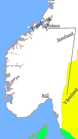 Sverre of Norway - Sverre's journey to Øreting in Nidaros