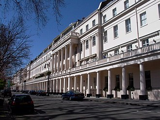 Belgian government in exile - The north side of Eaton Square in London where the government was established in 1940 and remained until September 1944.