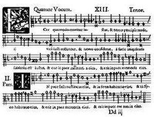 Jacobus Gallus - Image: Ecce quomodo Gallus tenor voice