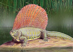 Archer County, Texas - Edaphosaurus boanerges life restoration