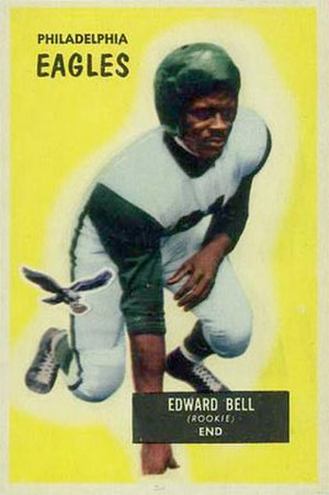 Eddie Bell (halfback) - Bell on a 1955 Bowman football card