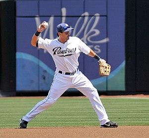 Edgar Gonzalez (infielder) - Gonzalez at 2B with the Padres in 2008.