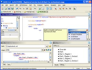 EditiX XML Editor and XSLT Debugger