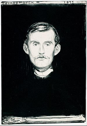 Edvard Munch - Self Portrait with Skeleton Arm, 1895