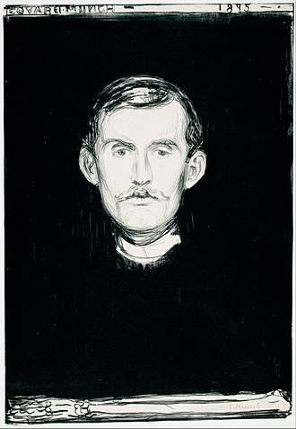 Edvard Munch - Self-Portrait with Skeleton Arm, 1895