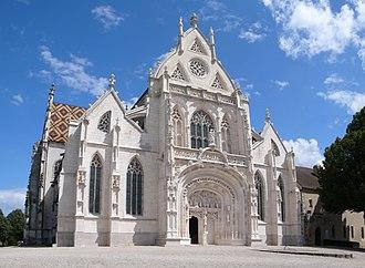 Royal Monastery of Brou - Façade of the church, Royal Monastery of Brou